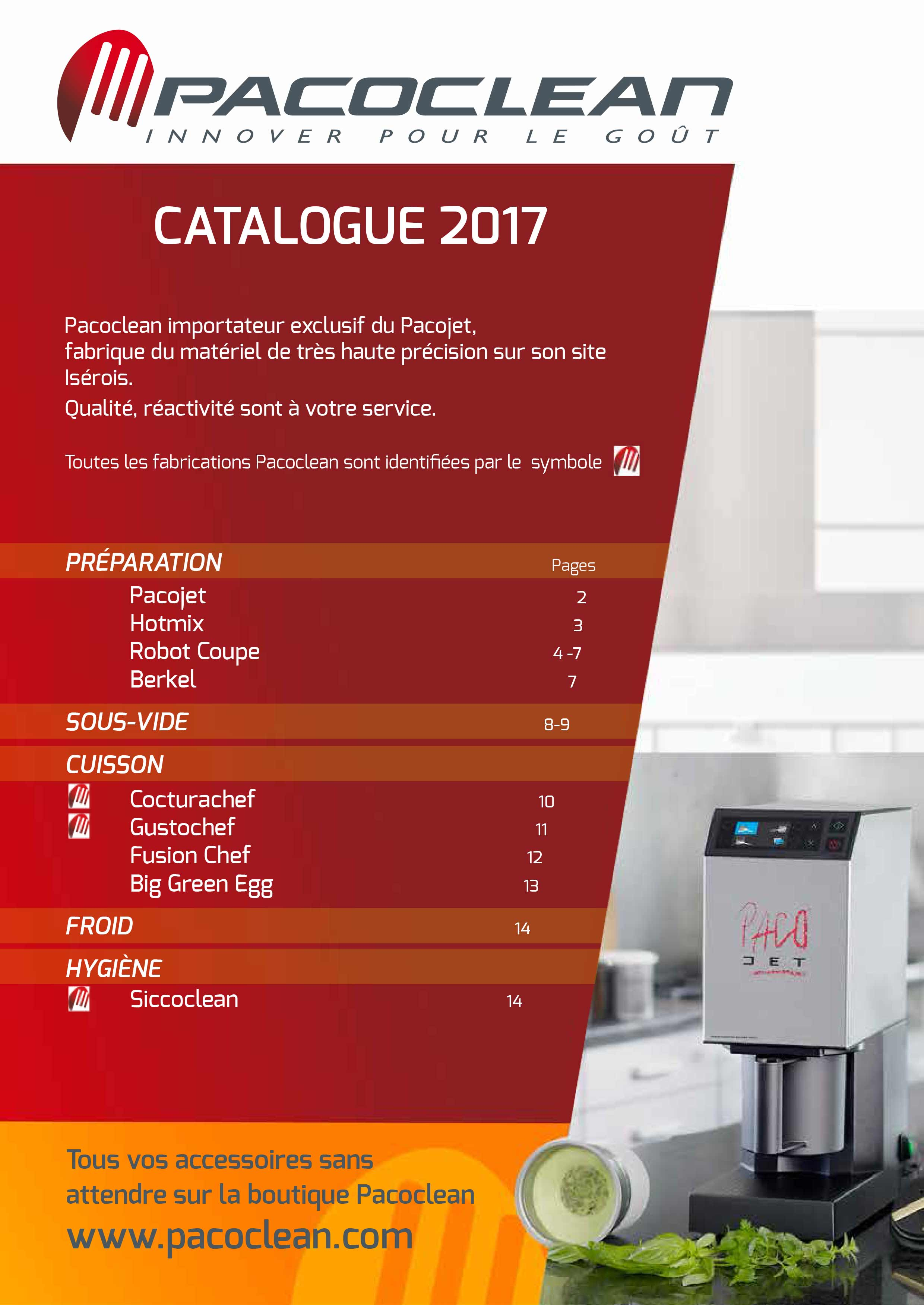 Pacoclean Catalogue 2017 une